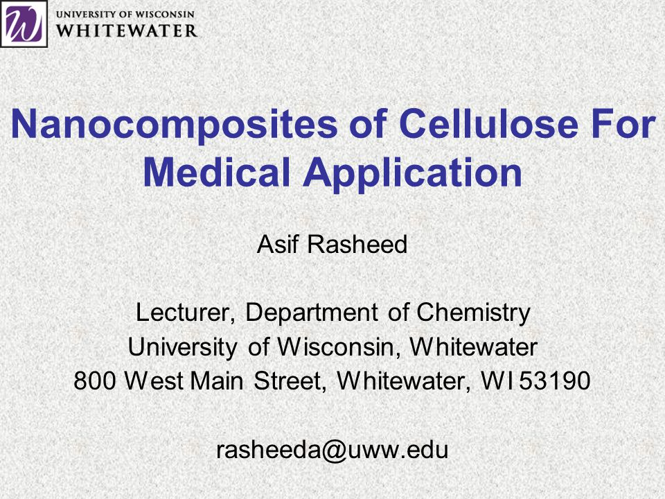 Nanocomposites of Cellulose For Medical Application