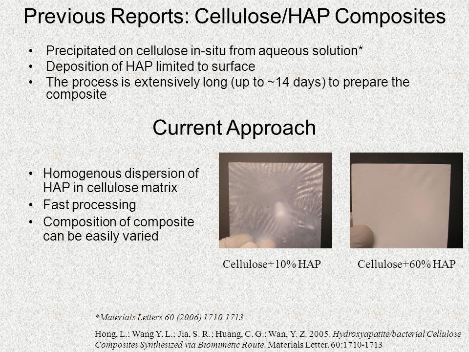 Previous Reports: Cellulose/HAP Composites