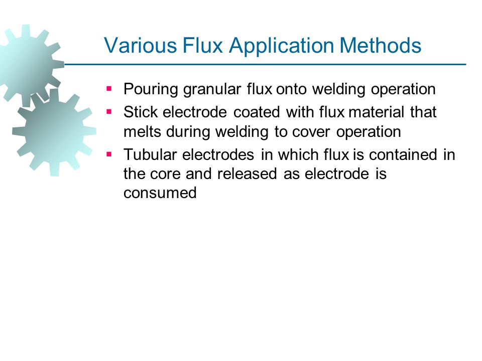 Various Flux Application Methods