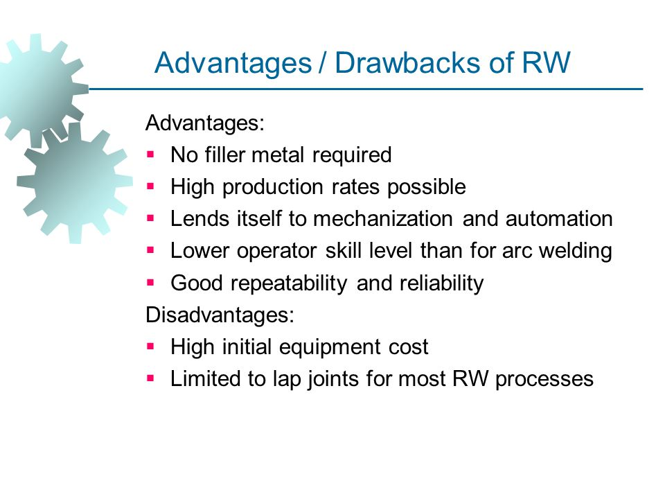 Advantages / Drawbacks of RW
