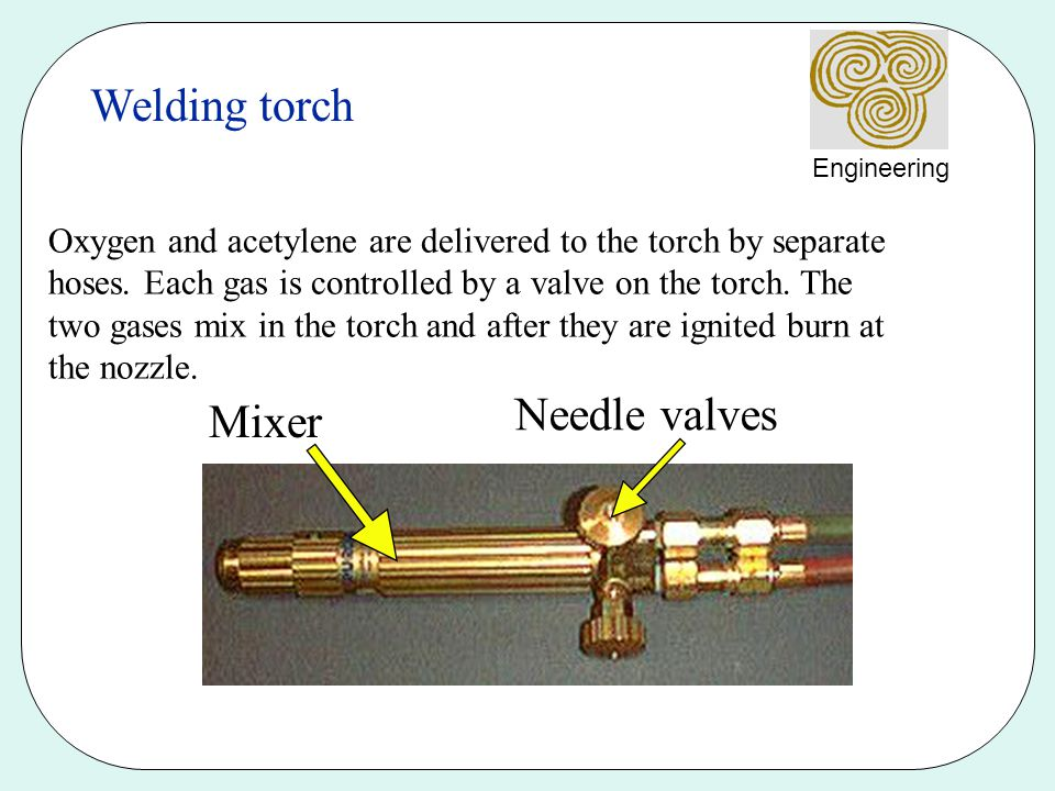Welding torch Needle valves Mixer