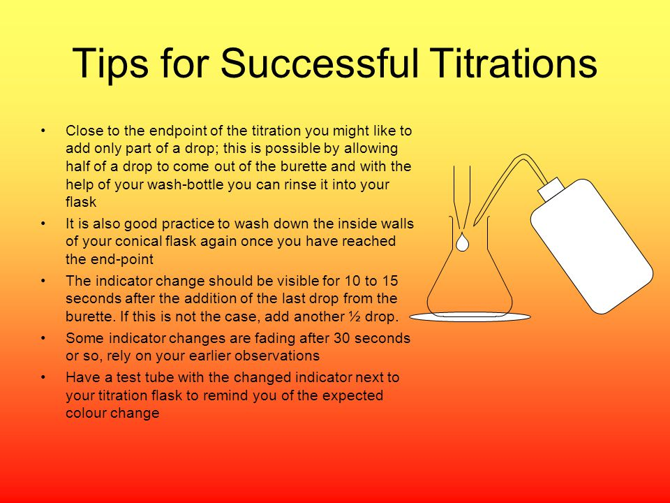 Tips for Successful Titrations