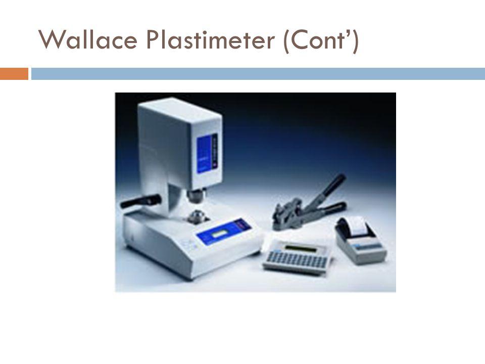 Wallace Plastimeter (Cont')