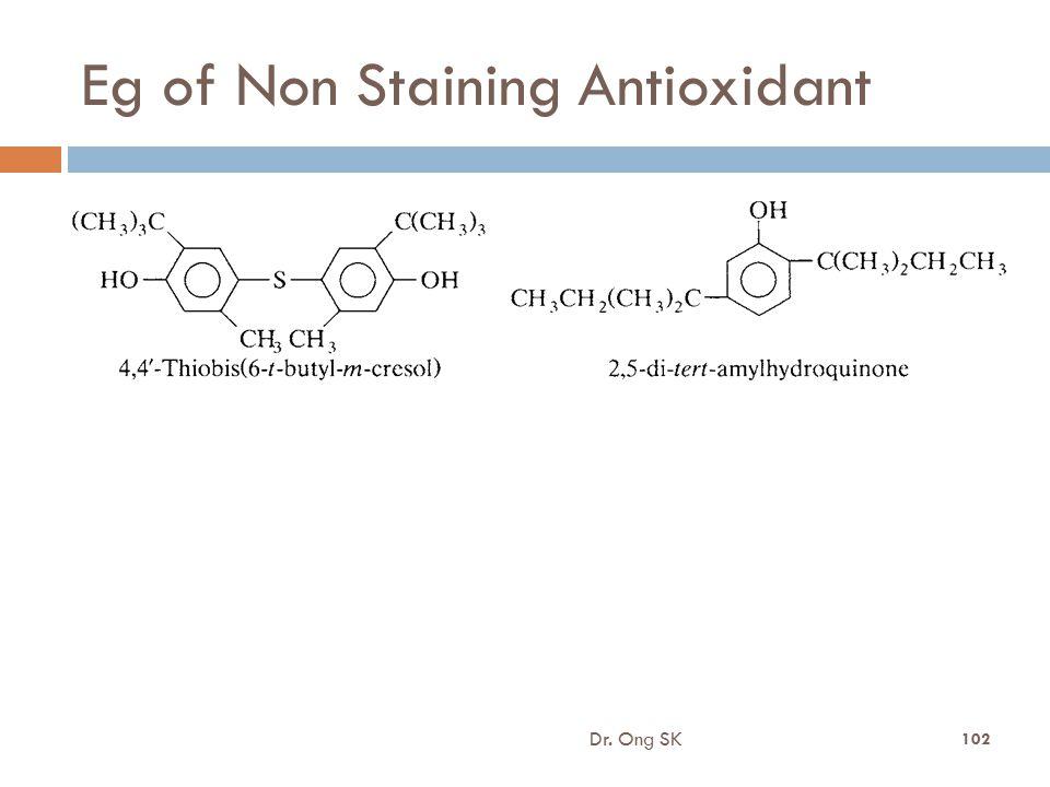 Eg of Non Staining Antioxidant