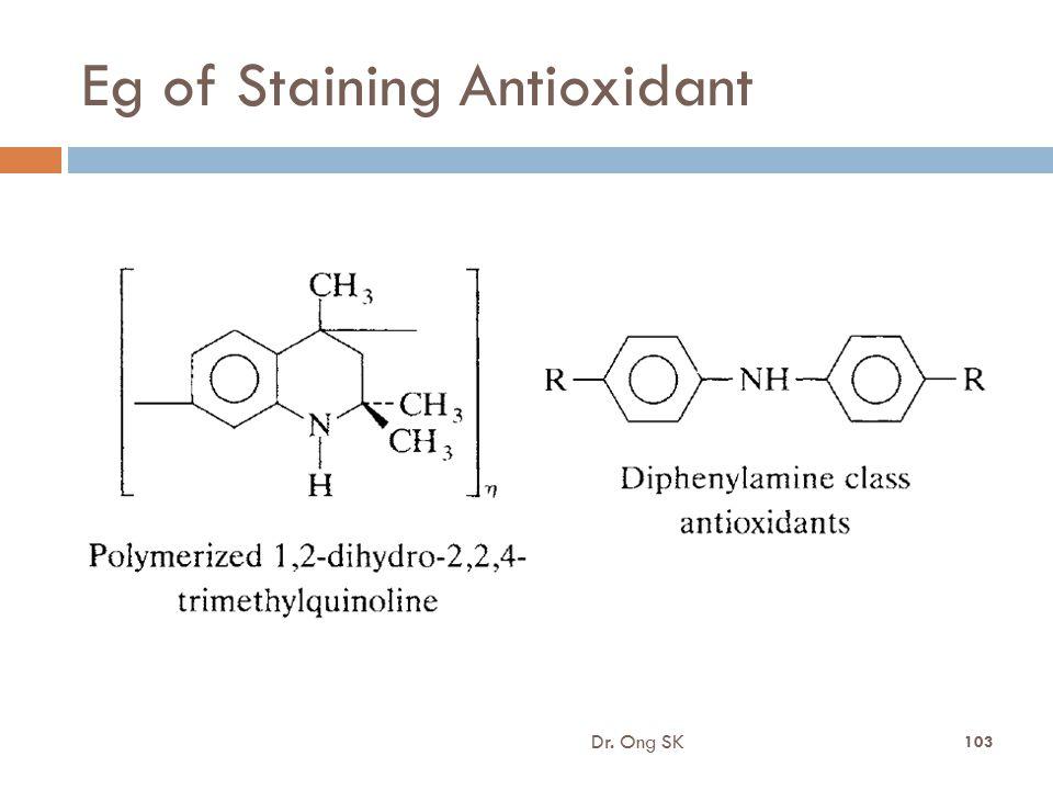 Eg of Staining Antioxidant
