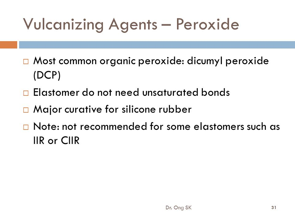 Vulcanizing Agents – Peroxide