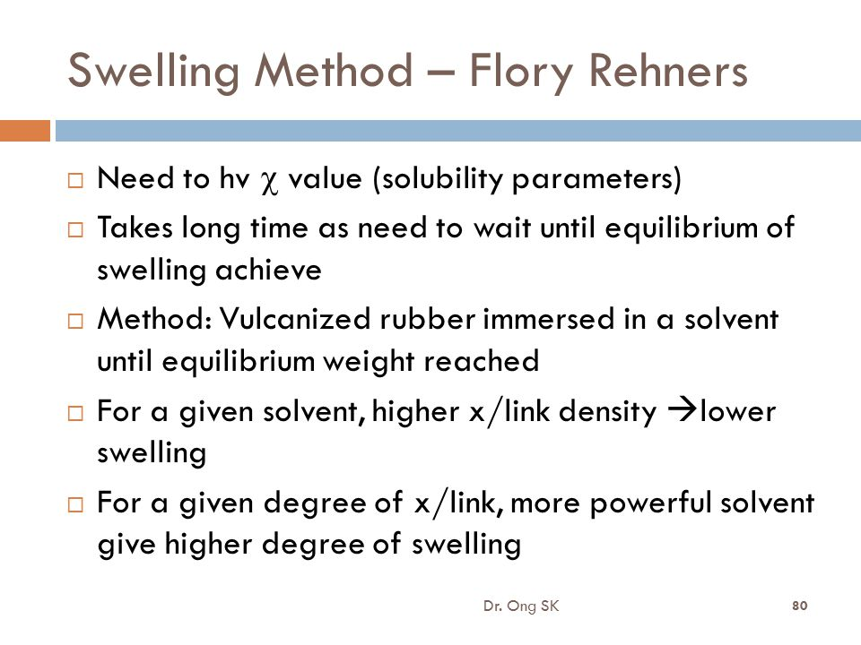 Swelling Method – Flory Rehners