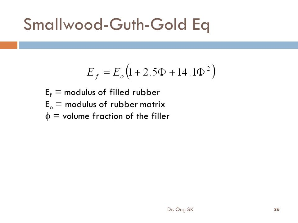 Smallwood-Guth-Gold Eq