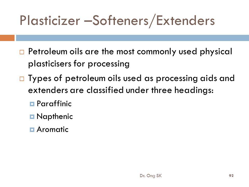 Plasticizer –Softeners/Extenders