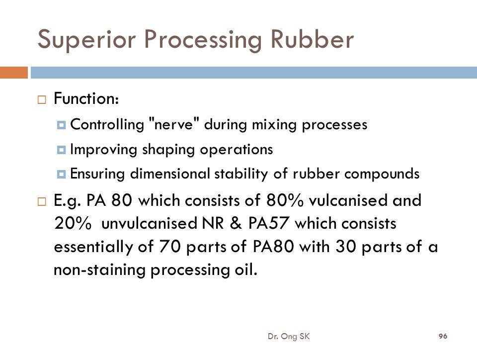 Superior Processing Rubber