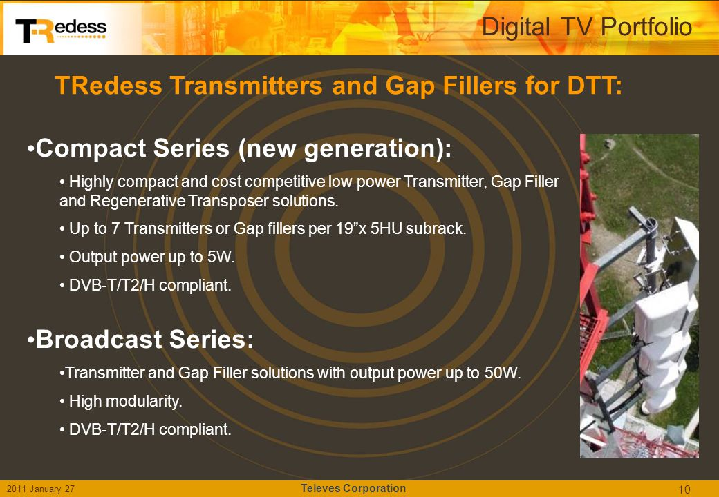 TRedess Transmitters and Gap Fillers for DTT: