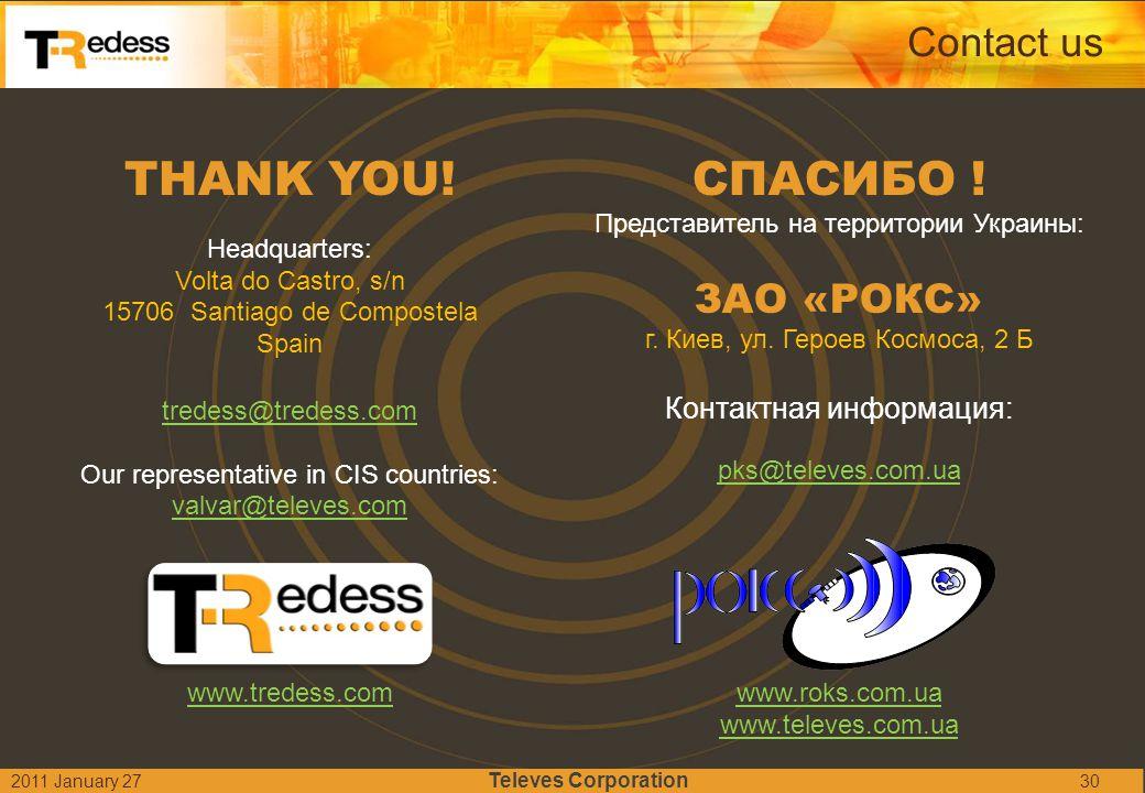 THANK YOU! СПАСИБО ! Contact us ЗАО «РОКС» Контактная информация:
