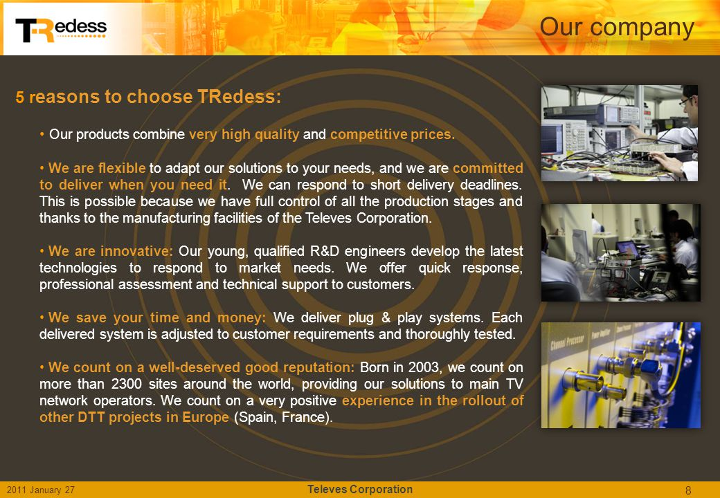 Our company 5 reasons to choose TRedess: