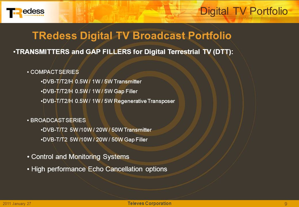 TRedess Digital TV Broadcast Portfolio