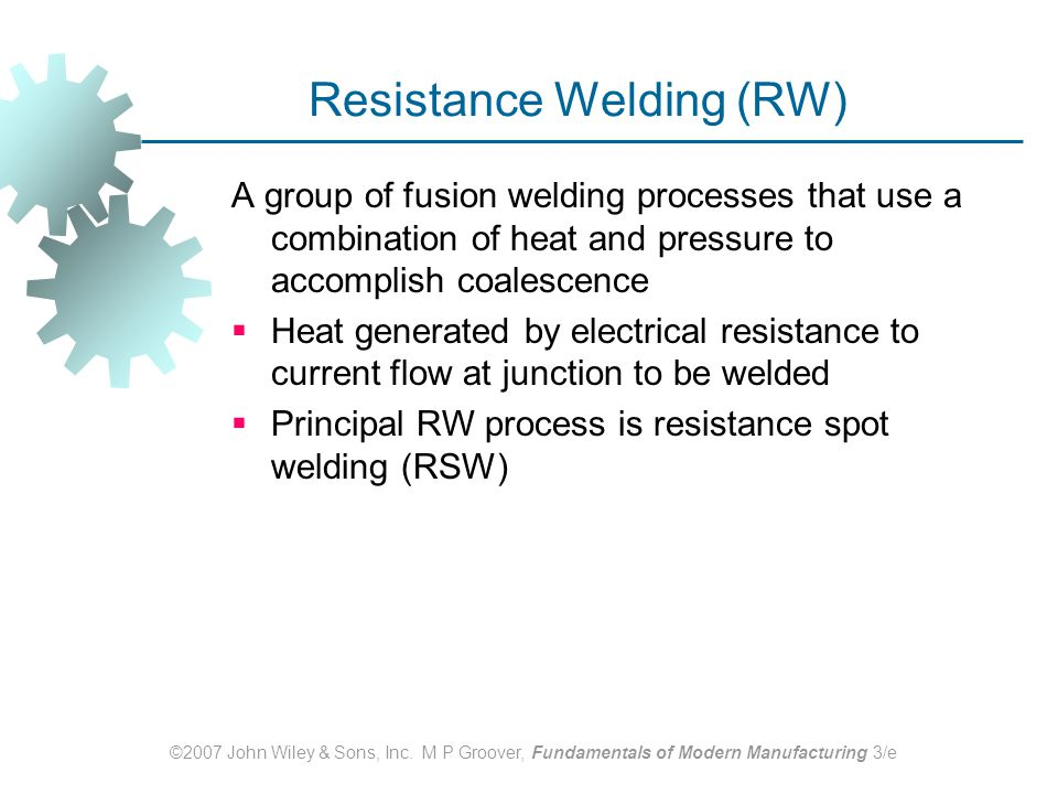Resistance Welding (RW)