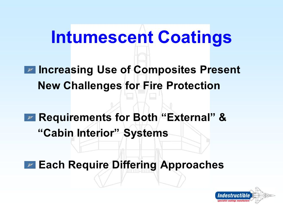 Intumescent Coatings Increasing Use of Composites Present