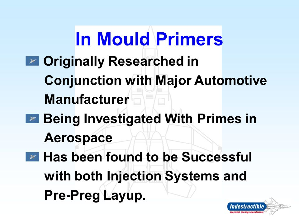 In Mould Primers Originally Researched in