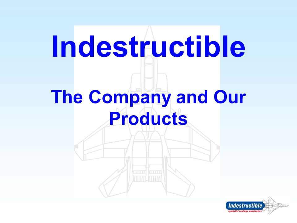 Indestructible The Company and Our Products