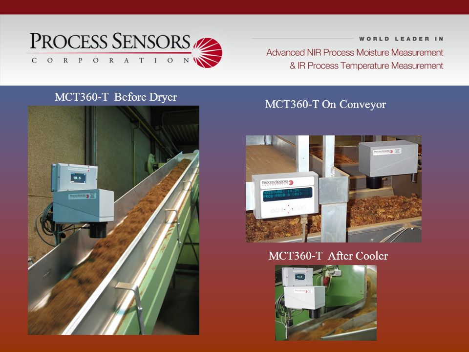 MCT360-T Before Dryer MCT360-T On Conveyor MCT360-T After Cooler