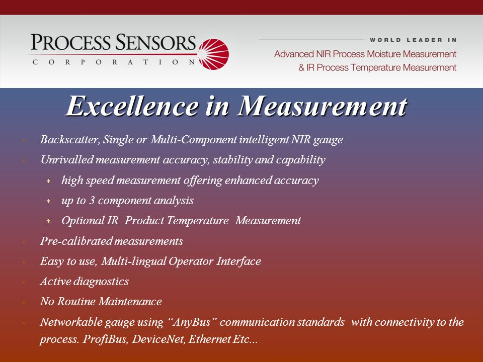 Excellence in Measurement