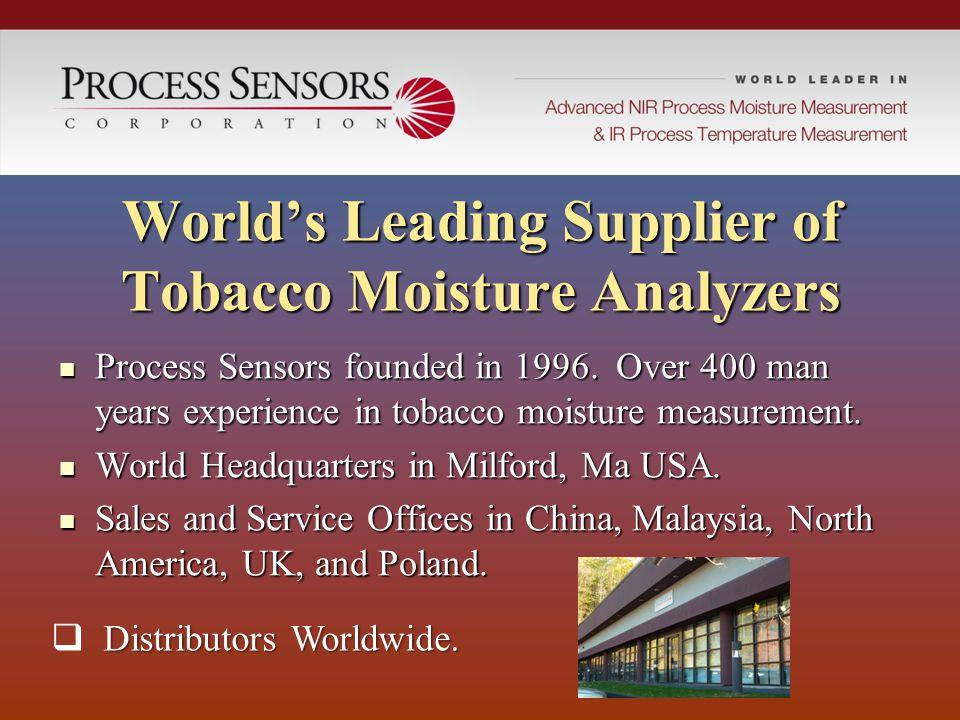 World's Leading Supplier of Tobacco Moisture Analyzers