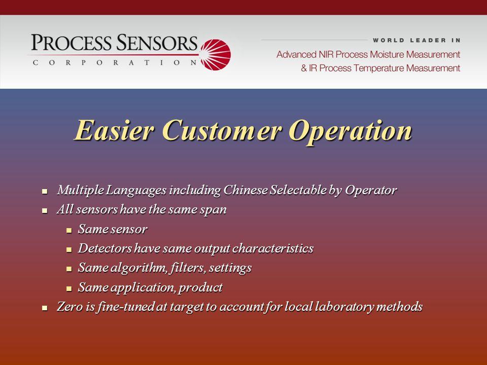 Easier Customer Operation