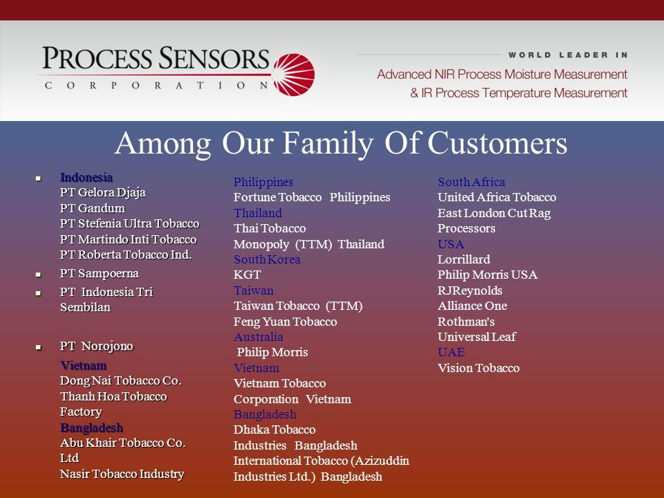 Among Our Family Of Customers