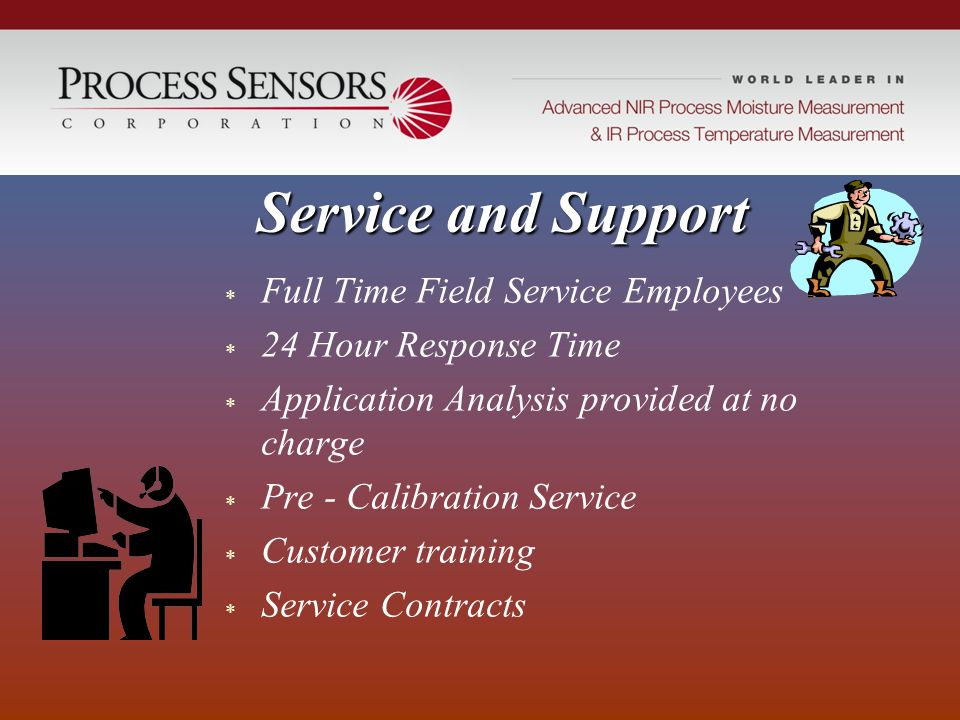 Service and Support Full Time Field Service Employees