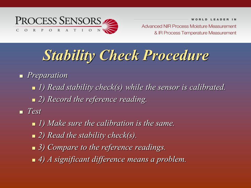 Stability Check Procedure