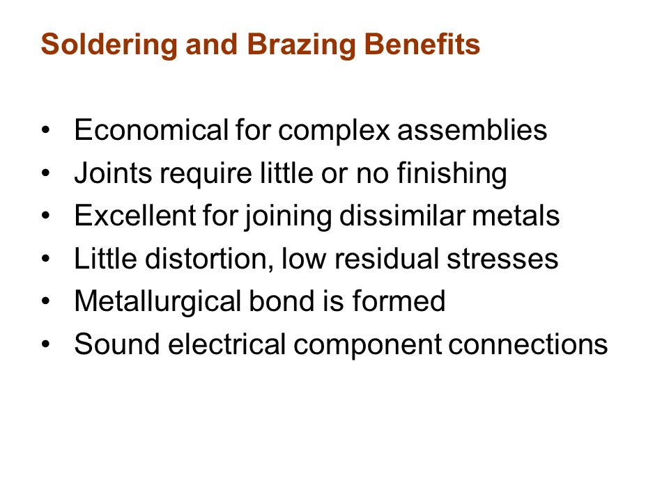 Soldering and Brazing Benefits
