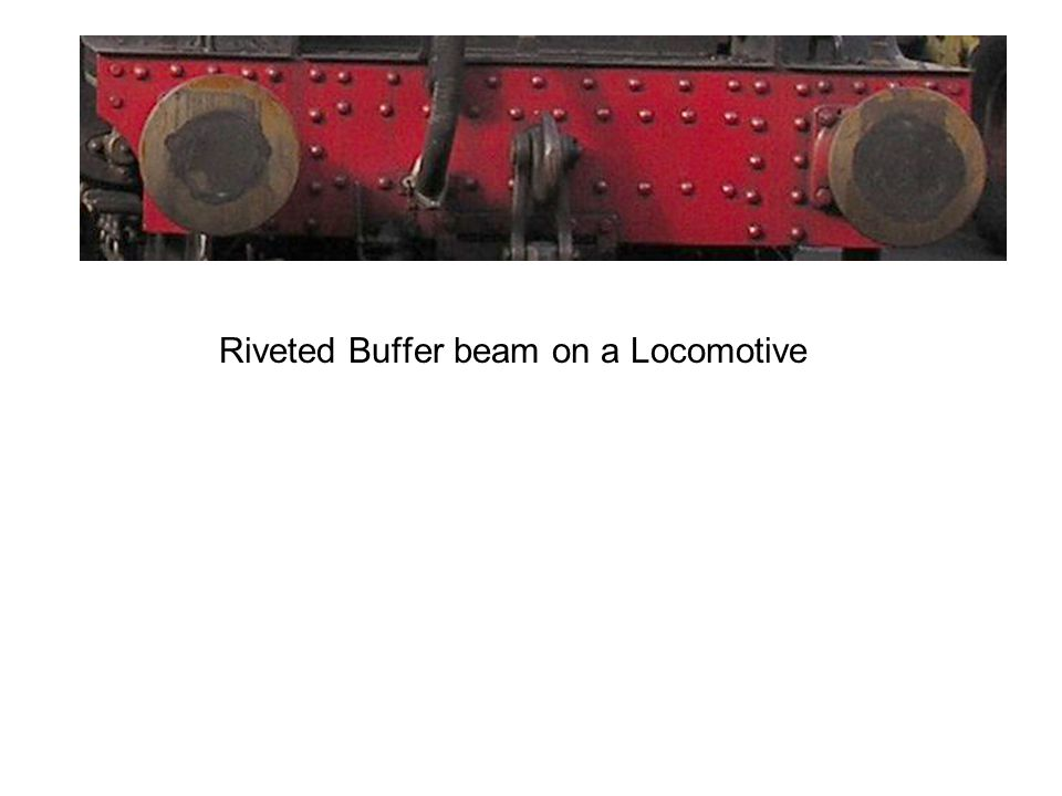 Riveted Buffer beam on a Locomotive