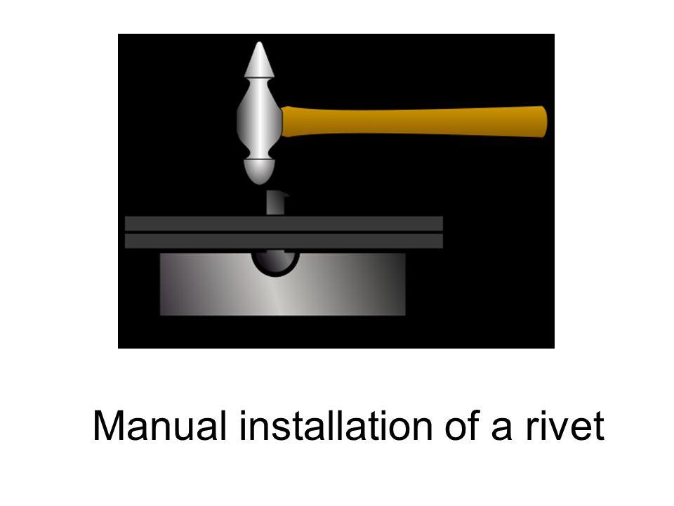 Manual installation of a rivet