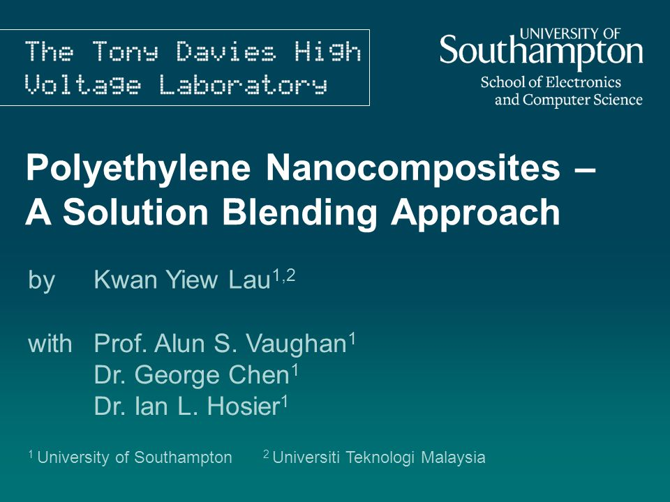 Polyethylene Nanocomposites – A Solution Blending Approach