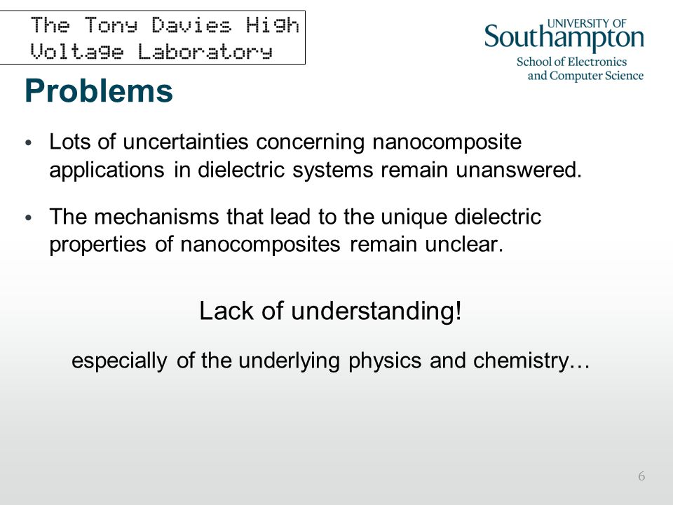 especially of the underlying physics and chemistry…