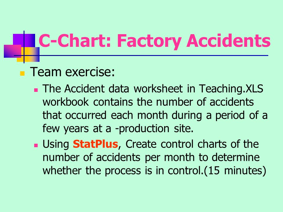 C-Chart: Factory Accidents