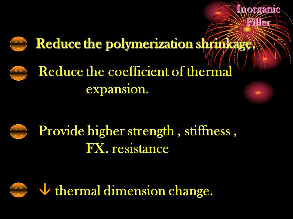 Reduce the polymerization shrinkage.