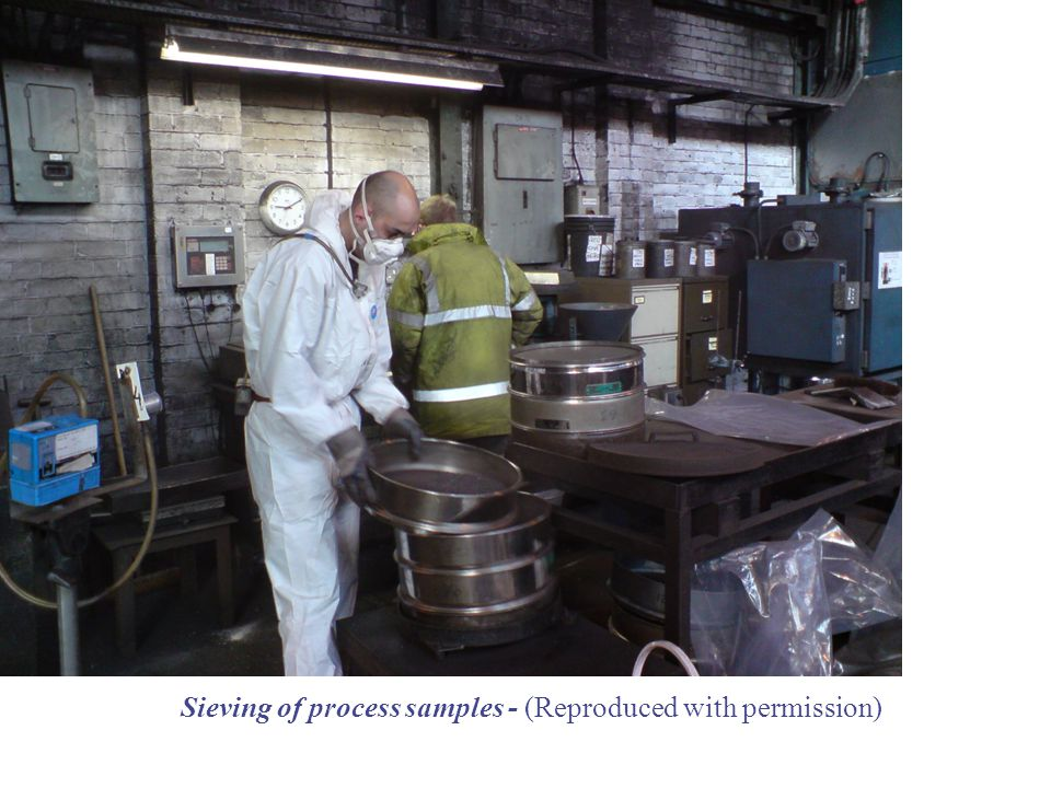 Sieving of process samples - (Reproduced with permission)