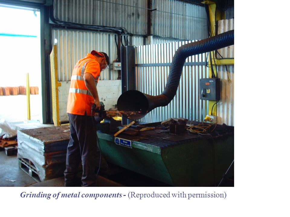 Grinding of metal components - (Reproduced with permission)