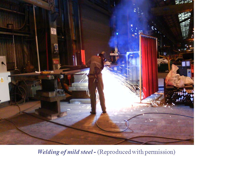 Welding of mild steel - (Reproduced with permission)
