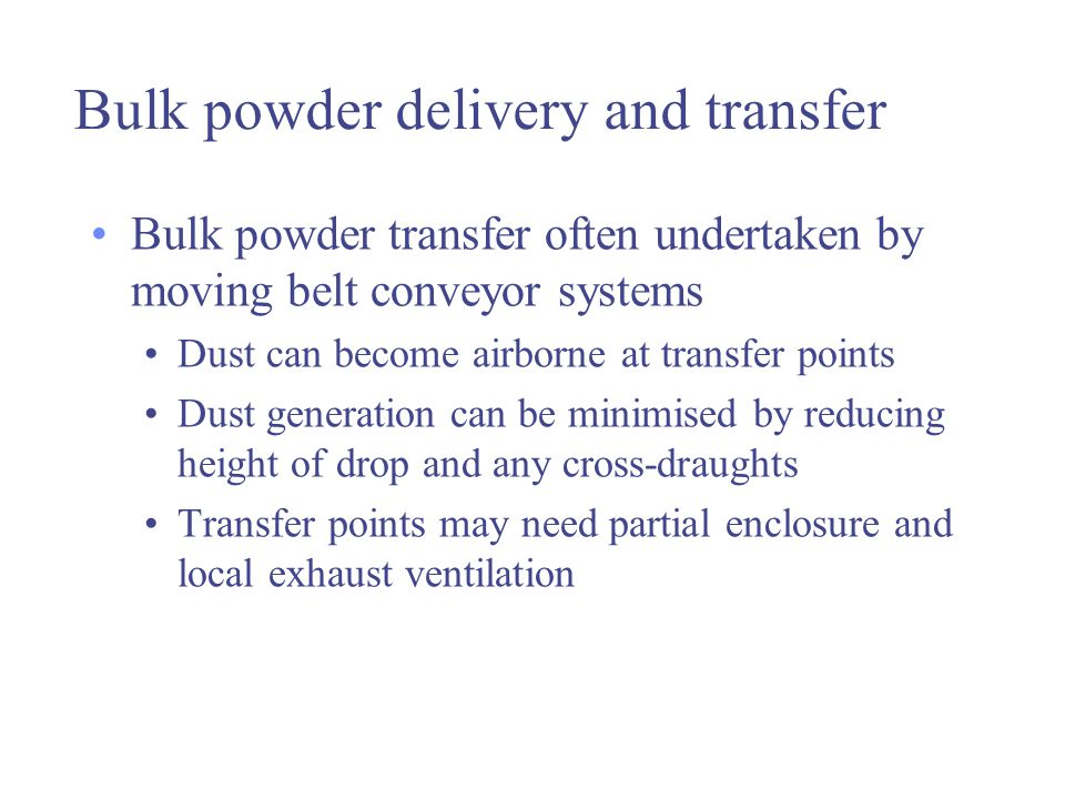 Bulk powder delivery and transfer