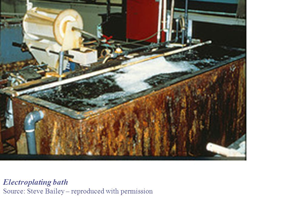 Electroplating bath Source: Steve Bailey – reproduced with permission