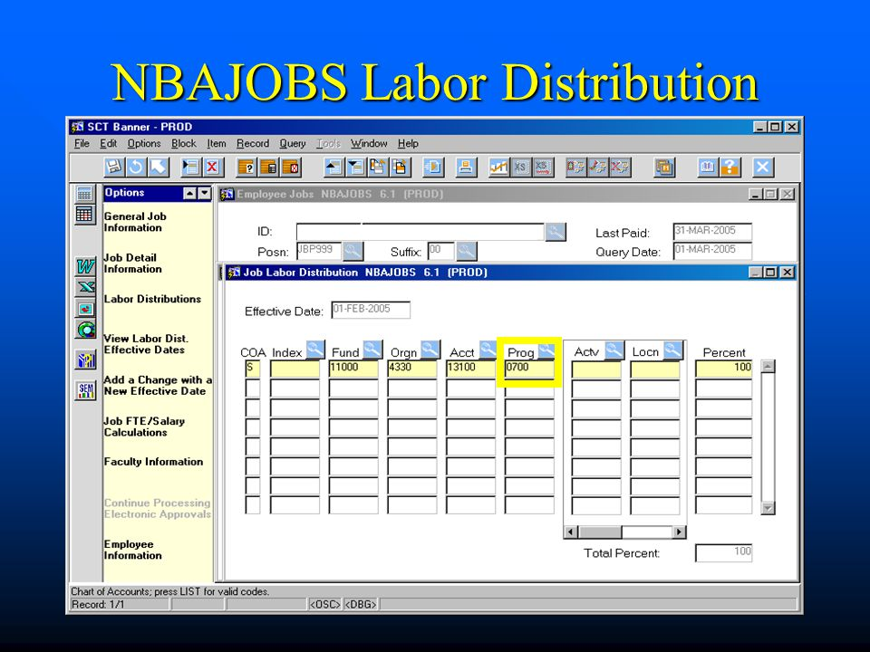 NBAJOBS Labor Distribution