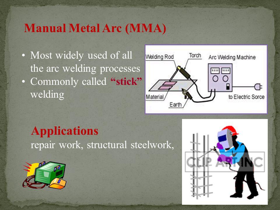 Manual Metal Arc (MMA) Applications