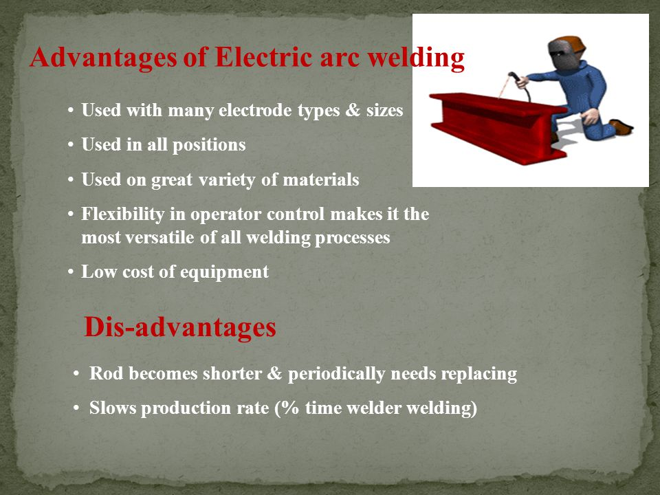 Advantages of Electric arc welding