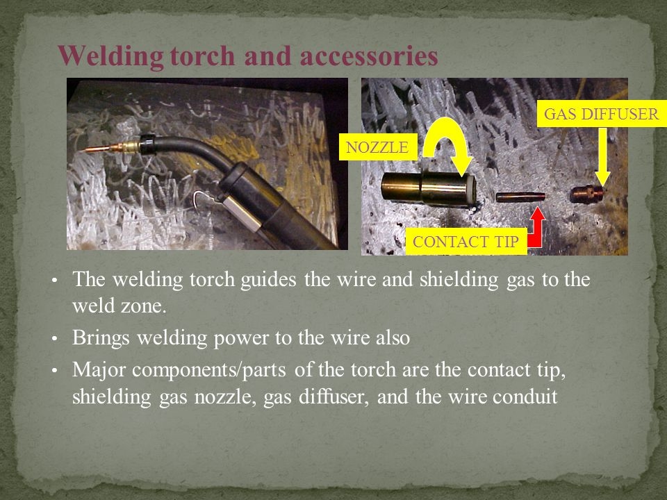 Welding torch and accessories