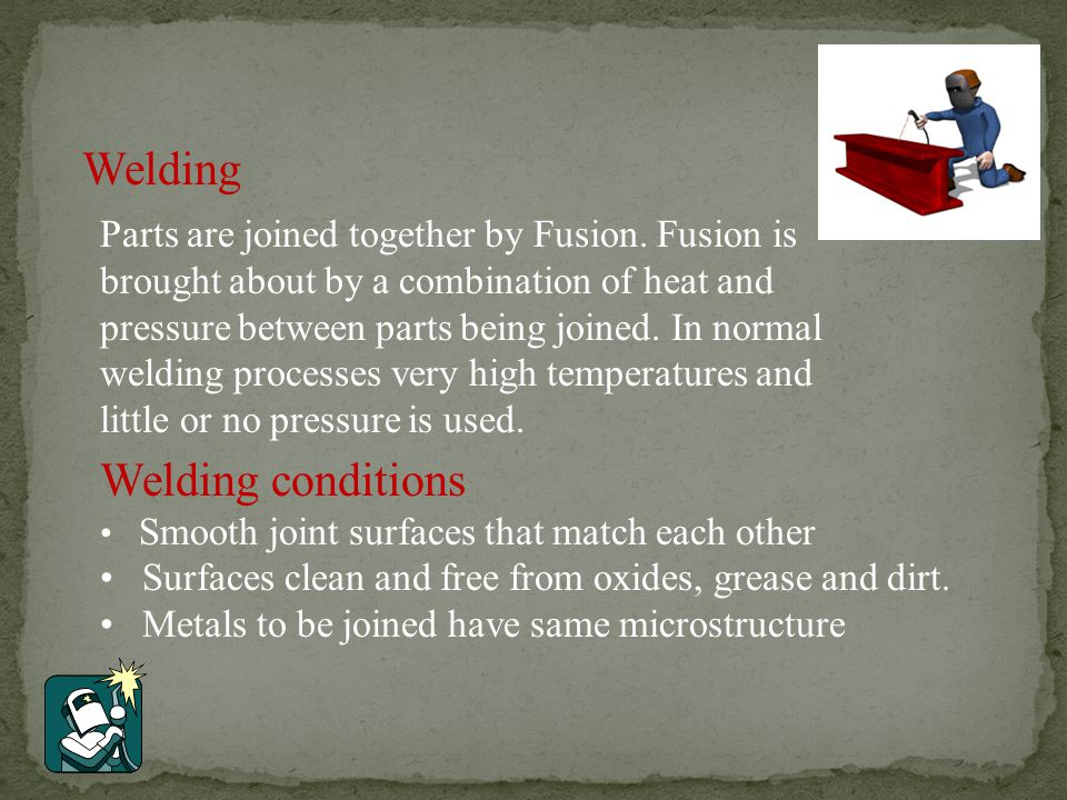 Welding Welding conditions