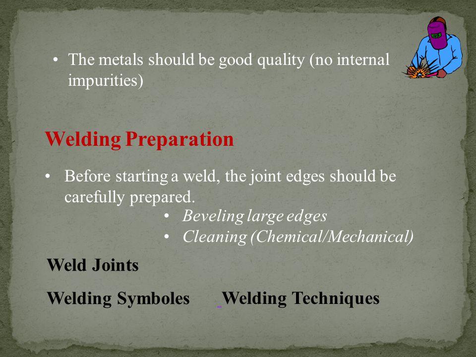 Welding Preparation Weld Joints Welding Symboles Welding Techniques