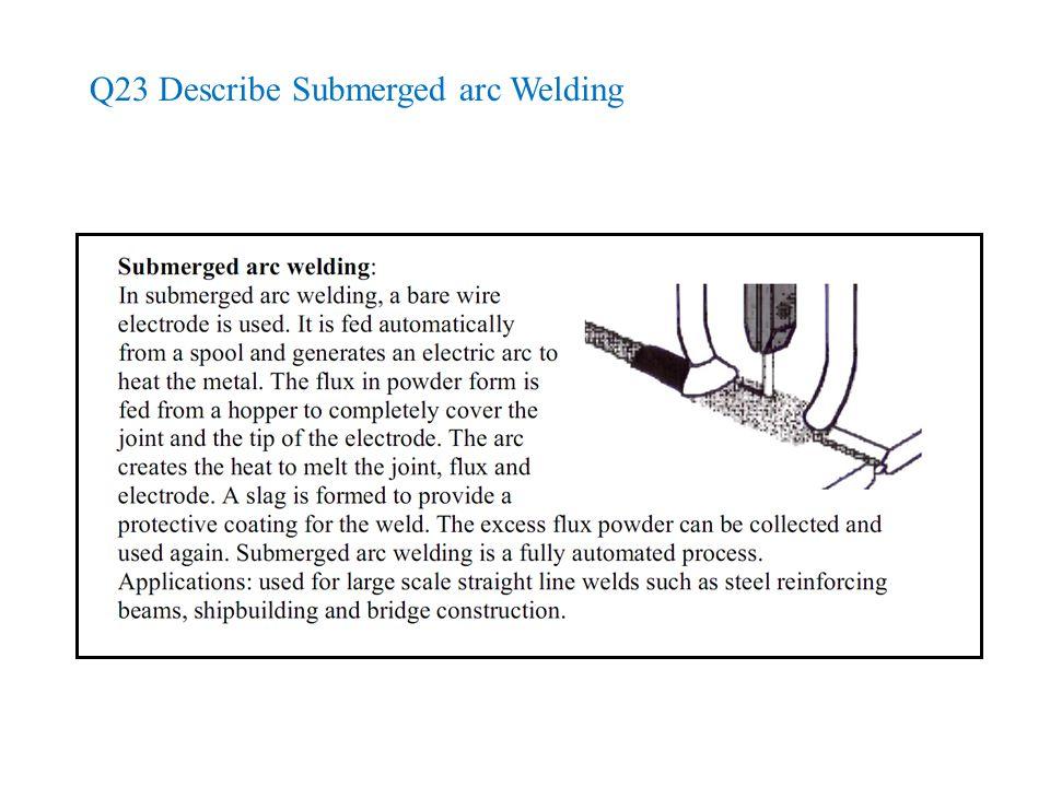 Q23 Describe Submerged arc Welding