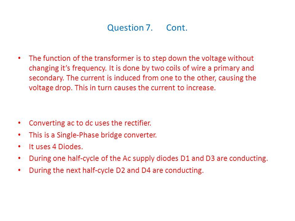 Question 7. Cont.