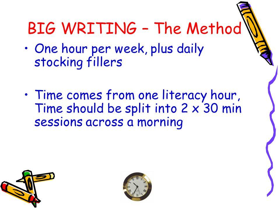 BIG WRITING – The Method